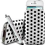 N4U Online® - Nokia Asha 210 Protective PU Leather Polka