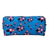 floreale zipper Pouch Pencil Case Flower studenti canvas Pen bag Pouch Stationary case makeup Cosmetic bag (floreale)