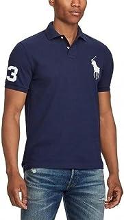Mens Custom Slim Fit Big Pony Logo Polo Shirt
