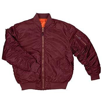 Best burgundy bomber jacket mens Reviews