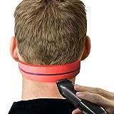 BST&BAO Plantilla de Silicona para Afeitar el Contorno del Cuello y Ayuda para Cortar el Cabello Uso a Mano alzada para peluquería Corte, Recorte y Afeitado en el hogar