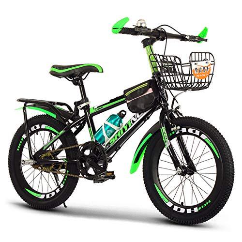GZMUK Kinder Mountainbike 18/20/22/24 Zoll Rahmen Aus Kohlenstoffstahl Geeignet Für Kinder Ab 8 Jahren,Grün,24 in