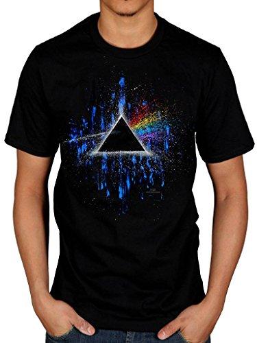 Official Pink Floyd Dark Side of The Moon Pink Splatter 2 T-Shirt