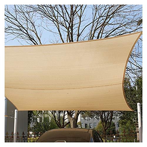 CAIJUN Rectángulo Vela A La Sombra del Sol, Bloque 95% UV Aislamiento Térmico Pérgola Toldo De Coches con Anillo De Tracción En Forma De D, Tamaño Personalizado (Color : Beige, Size : 4x6m)