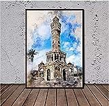 Jinliushi Poster Izmir Belfry Poster Gemälde Gedruckt auf