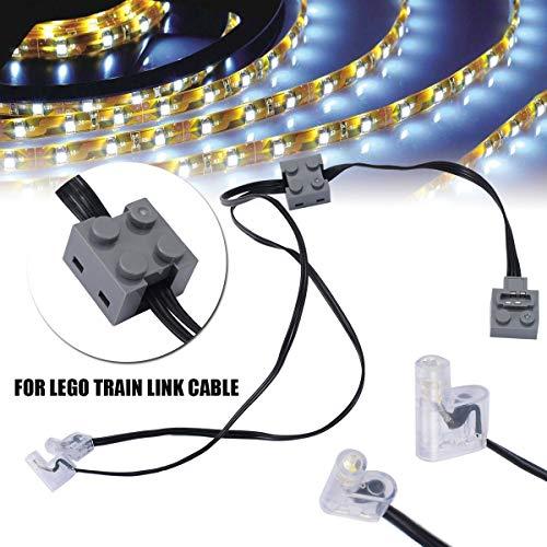 Without brand CCH-DLJIETOU, 1pc Technic Puissance Fonction 8870 LED Link Light Câble de Ligne for Lego Train véhicule Connexion Outils Ligne câble de Connexion de Haute qualité