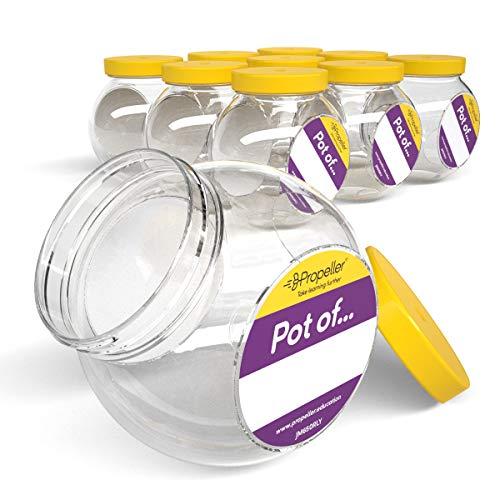 Pots ronds de 650 ml à couvercle vissé (paquet de 10)