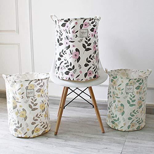 花柄が可愛いランドリーバッグ。洗濯物を入れるだけじゃもったいない!深さがあり、使わない時は折り畳んでしまえるのも便利ポイントですよ♪