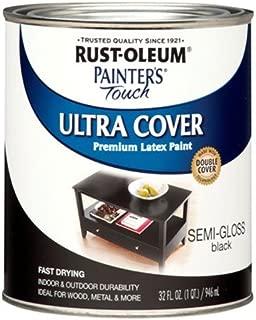Rust-Oleum 1974502 Painters Touch Latex, 1-Quart, Semi Black