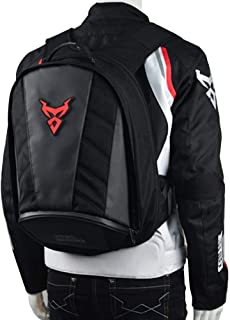 Moto Centric Waterproof Large Capacity Motorcycles Riding Backpacks with Chest and Waist Buckle Motorcycle Helmet Holder/Cycling Helmet Storage Bags