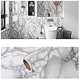 Pegatina Decorativo PelíCula, PVC Cocina DE Cocina PETÍCE DE Aceite Pegatina de mármol Estufa de gabinete con Papel Tapiz de Alta temperatura-B-10_60cmx10m
