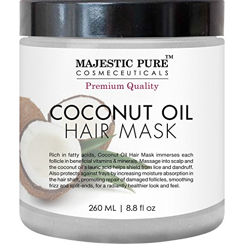 Majestic Pure Coconut Oil Hair Mask, Offers Natural Hair Care Treatment,...
