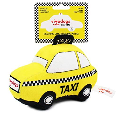 Vivadogs - Taxi New York para Perros Medianos/Grandes - Juguete de Peluche para morder