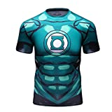 Red Plume Men's Superhero T-Shit Sports Fitness Cosplay Party Shirt Short Sleeve (XL)