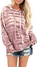 Xinantime Womens Hooded Sweatshirt Casual Hoodie Long Sleeve Tie-Dye Print Pullover Sweatshirt Jumper Tops