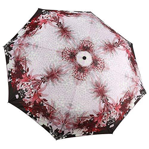 Doppler Carbonsteel Magic Bella Damen Regenschirm Taschenschirm Umbrella Schirm mit Doppel Automatik 744765BA, Farbe:Rot