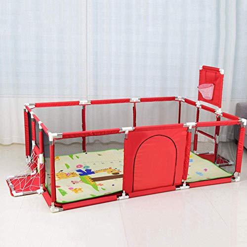 LEILEI Parque para niños Parque para bebés para niños pequeños Cerca para bebés Área de Juego Seguridad para bebés Cerca para Gatear Colchoneta de Juego para Interiores y Exteriores Parque Infantil