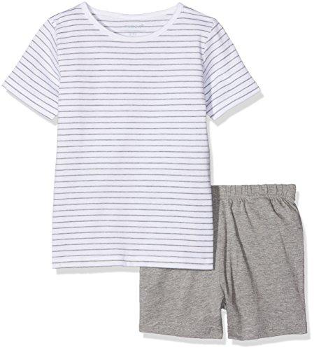 NAME IT NAME IT Baby-Mädchen NMFNIGHTSET Mel SS Shorts Zweiteiliger Schlafanzug, Mehrfarbig (Grey Melange Grey Melange), 92
