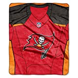 Northwest NFL Tampa Bay Buccaneers Royal Plus Raschel Throw, One Size, Multicolor