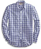 Amazon Brand - Goodthreads Mens Standard-Fit Long-Sleeve Gingham Plaid Poplin Shirt, Blue/Grey, X-Large