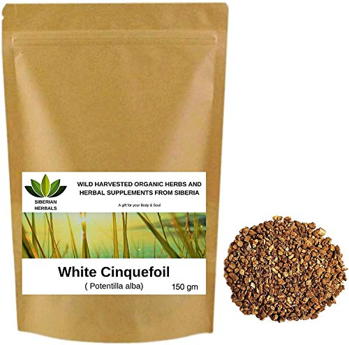 Weißes Fingerkraut Wurzel (Potentilla alba) White Cinquefoil Root Лапчатка белая Wild geerntete Bio-Kräuter aus Sibirien, Russland. (150 gramm)