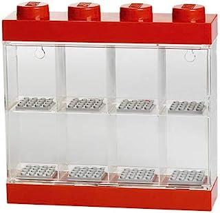 LEGO - Caja de almacenaje para minifiguras con diseño de ladrillo 8, color rojo (Room Copenhagen #40650001)