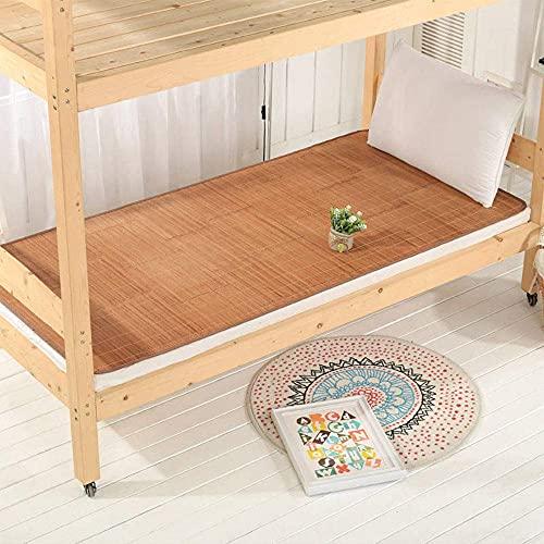 NCHEOI Mat de bambú de Verano Plegable de Doble Cara colchones de un Solo colchón de enfriamiento carbonizado Almohadillas para Estudiantes de Cama Dormitorio (Size : B)