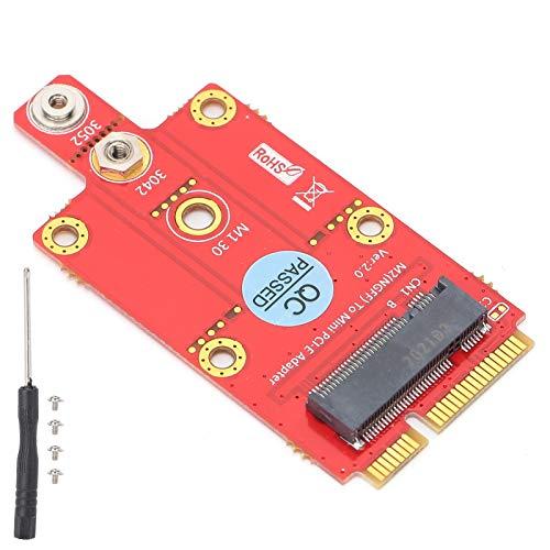 Fdit Adaptador Mini PCI Express para Red de PC de Escritorio, M.2 NGFF Key B a Mini Adaptador PCIe Compatible con módulo WWAN basado en SSIC Puerto USB, 3042/3052 Key B
