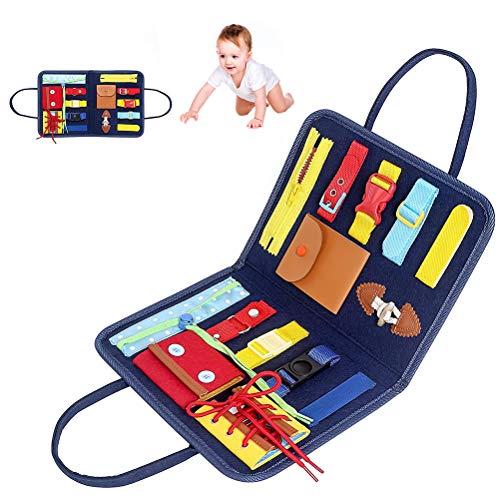 Surenhap Baby Busy Board Aktivitätsausschuss mit Verschluss Montessori Spielzeug Lernspielzeug