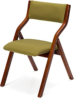 Silla Plegable Sillas Plegables de Madera Maciza Mesas y sillas de Comedor de hogar Sillas Plegables