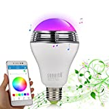 Bluetooth 4.0 LED-Lampen-Lautsprecher, Sunvito 3 in 1 Bunt RGB Musik-LED-Glhbirne 6W E27 / B22 fr...