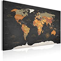 murando - Cuadro en Lienzo 120x80 cm Poster Mapa del Mundo - Impresion en Calidad fotografica Lienzo Tejido-no Tejido - Mundo Continente k-C-0048-b-c