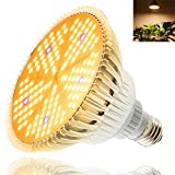 100W LED Grow Light Bulb, Full Spectrum 150 LED Grow Light Bulb for Indoor Plants, E26 E27 Base Grow Light Bulbs,160 Degree Plant Grow Lamp for Flower Hydroponic Seed Organic Growing Greenhouse Plant