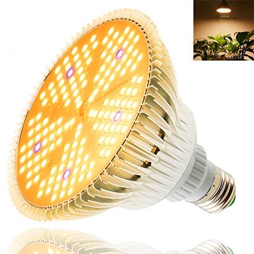 100W Bombilla de Crecimiento Espectro Completo 150 LED Lamparas de Crecimiento para Plantas de Interior E27 Cultivo Bombilla para Hidropónica Invernadero Grow Box Plantas Hortalizas Flores (100W)