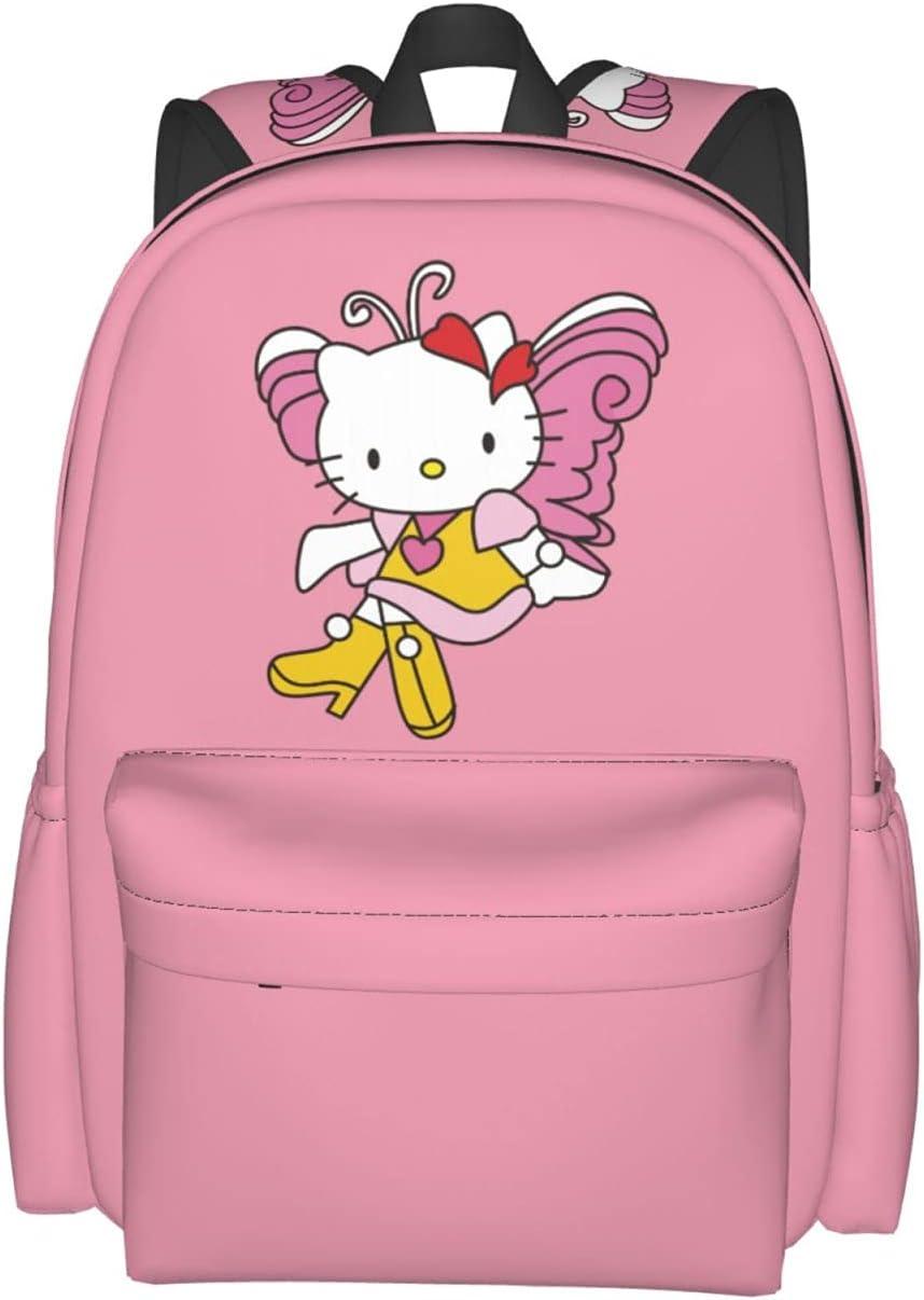 Pink Hello Kitty Print Backpack Girls Capacity High Washington Mall For Women Latest item
