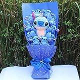 Best Quality - Stuffed & Plush Animals - Styles Kawaii Lilo Stitch Soup Flower Plush Toy Anime Lilo and Stich Soft Stuffed Animal Doll Romantic Valentine's Gift no box - by Pasona - 1 PCs