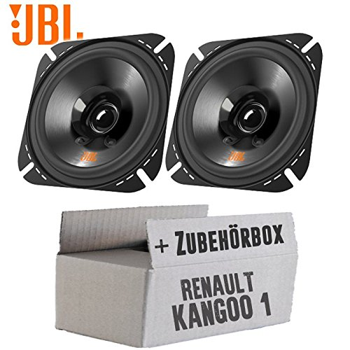 Lautsprecher Boxen JBL Stage2 424 | 2-Wege | 10cm Koax Auto Einbauzubehör - Einbauset für Renault Kangoo 1 Front Heck - JUST SOUND best choice for caraudio