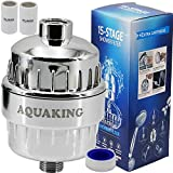 AquaKing Hard Water Shower Filter for Bathroom-Fits on Shower Heads Also Cleans Chlorine