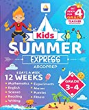 Kids Summer Express Grades 3-4: 12 Weeks of Math, Reading, Science, Logic, Fitness and Yoga   Online Access Included   Prevent Summer Learning Loss (English Edition)