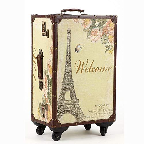 XIANGSHAN Trolley Case - Fashion PC Trolley Case/British Retro Travel Trolley Suitcase/Impermeable antirrobo / 34 Pulgadas / 40 * 32 * 67cm