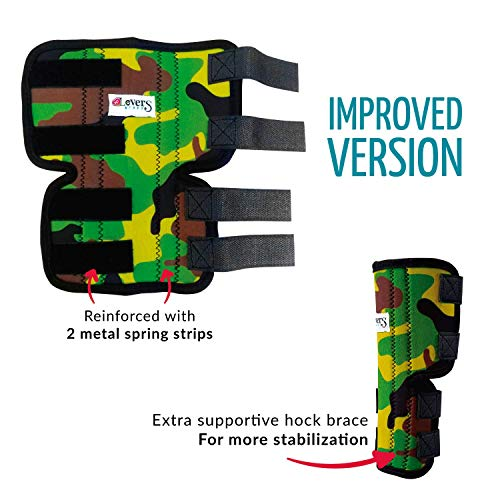 Pet Lovers Stuff Dog Leg Brace for Rear Legs - Hock Support Compression Wraps Ideal for Dogs with...