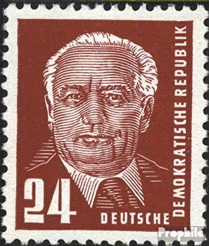 Prophila Collection DDR 324v b Y I geprüft, seltenes Wasserzeichen Bedarfsstempel 1952 Präsident Wilhelm Pieck (II) (Briefmarken für Sammler)