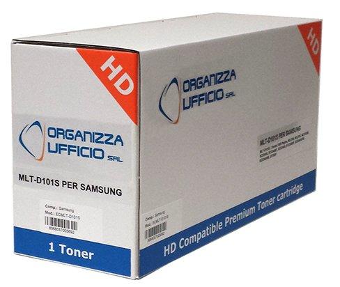 Organizza Ufficio Toner Compatibile con Samsung MLT-D101S, ML-2160, ML-2165, ML-2165W, SCX-3400, SCX-3400F, SCX-3405, SCX-3405F, SCX-3405FW, SCX-3405W, SF-760, SF 760P, 1500 copie