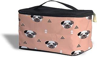 Geometric Pugs Cosmetics Storage Case - Makeup Zipped Travel Bag