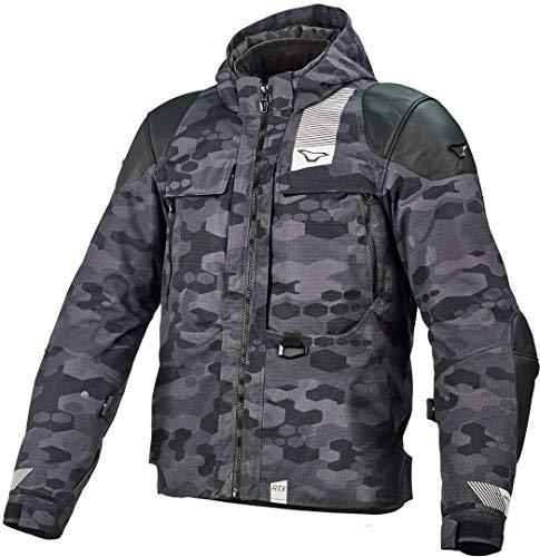 Macna Bazooka - Chaqueta textil para moto, color negro/camuflaje L