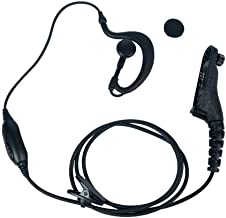Klykon G Shape Earpiece Headset for Motorola MTP850 MOTOTRBO XPR6550 XPR7550 XPR7580 XPR7380 APX6000 APX4000 XPR7350 APX7000 XPR6350 Walkie Talkie 2 Way Radio