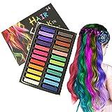 Coloration Temporaire Cheveux Craie, Craie pour Cheveux,Teinture Cheveux,temporaire des cheveux Pastel Chalk Kit,adultes enfants cadeaux pour fille et femme pour fête, anniversaire, Cosplay