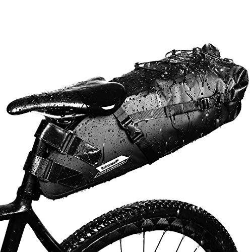 GARDOM Bicicletta Borsa da Sella Impermeabile,Borsa da Sella Sportiva, Leggero Borsa portaoggetti per MBT o Bici Ciclismo 10L Nero