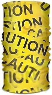 caution tape bandana