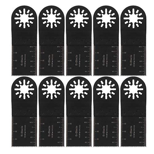 HYY-YY 10Pcs 35mm for Fein Multimaster Makita Oszillierende Werkzeuge Oszillierende Multi Tool Sägeblatt Oszillationswerkzeug Sanding Pads